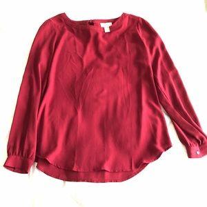 LOFT tie back blouse Size S